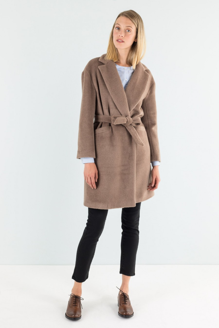 Alpaca fabric Lazzari coat