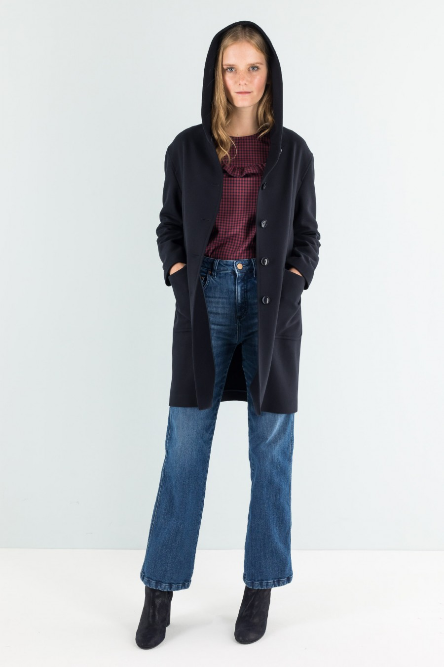 Wool and cashmere blue coat