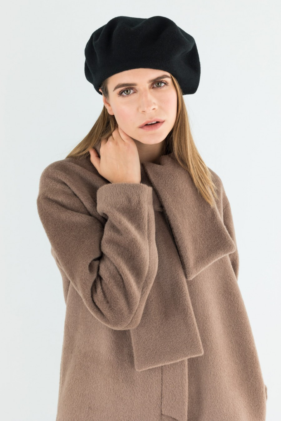 Camel brown alpaca coat