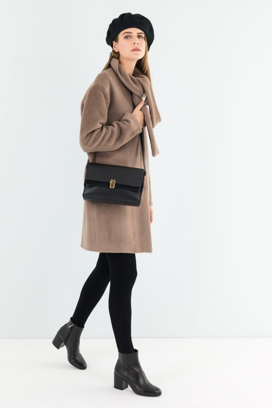 Smart camel brown coat