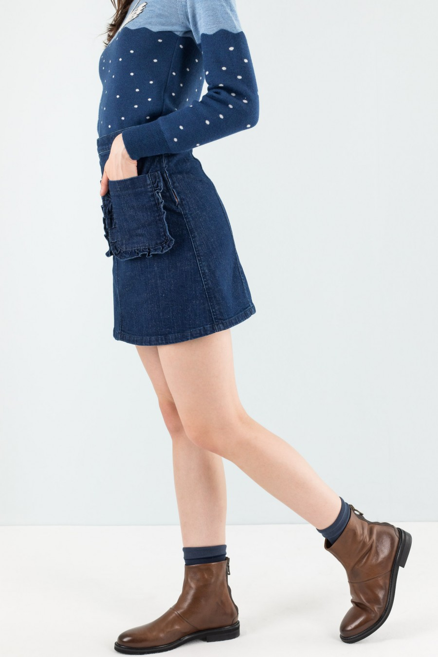Denim Lazzari skirt