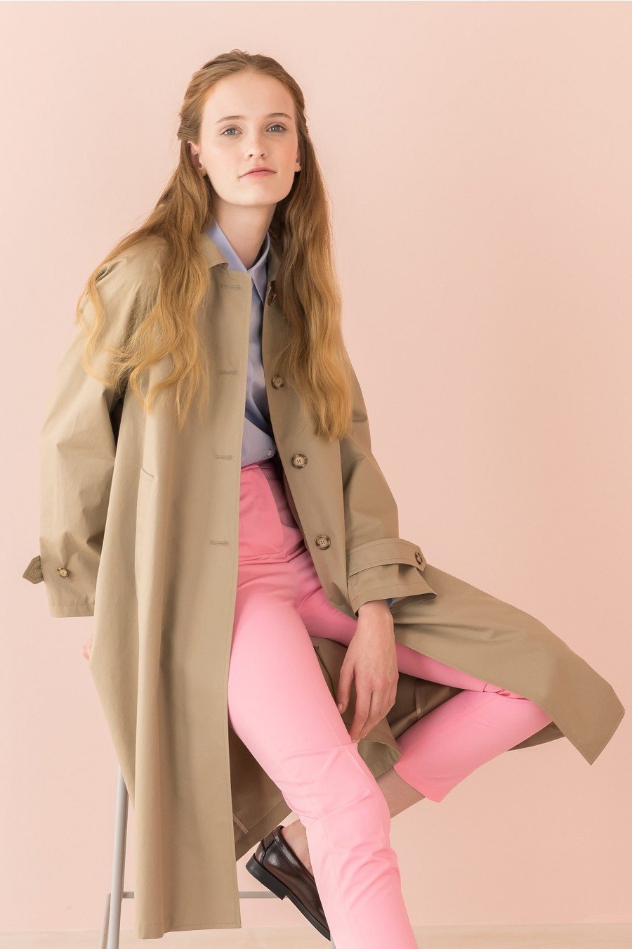 beige overcoat with pockets
