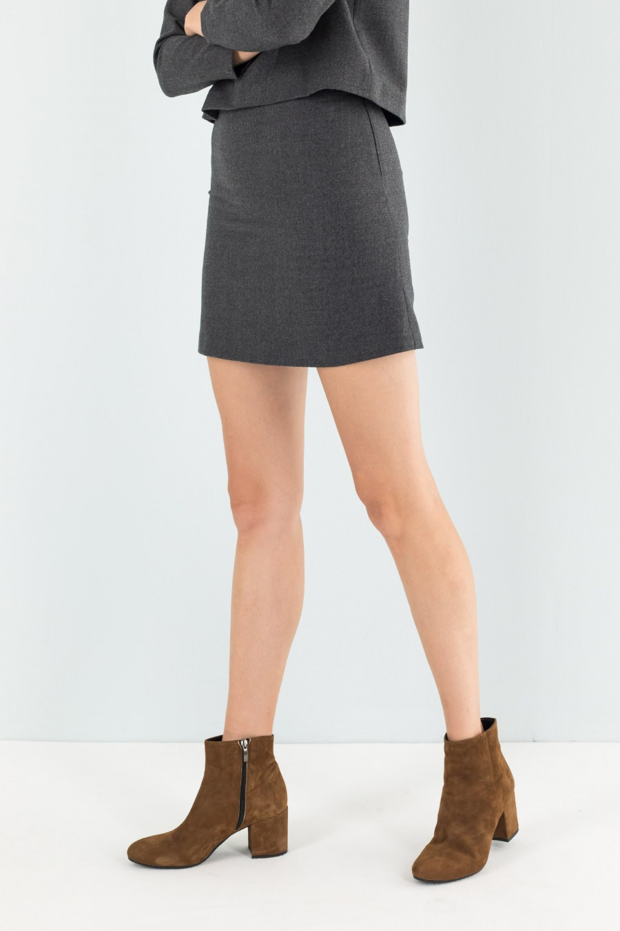 Lazzari grey mini skirt