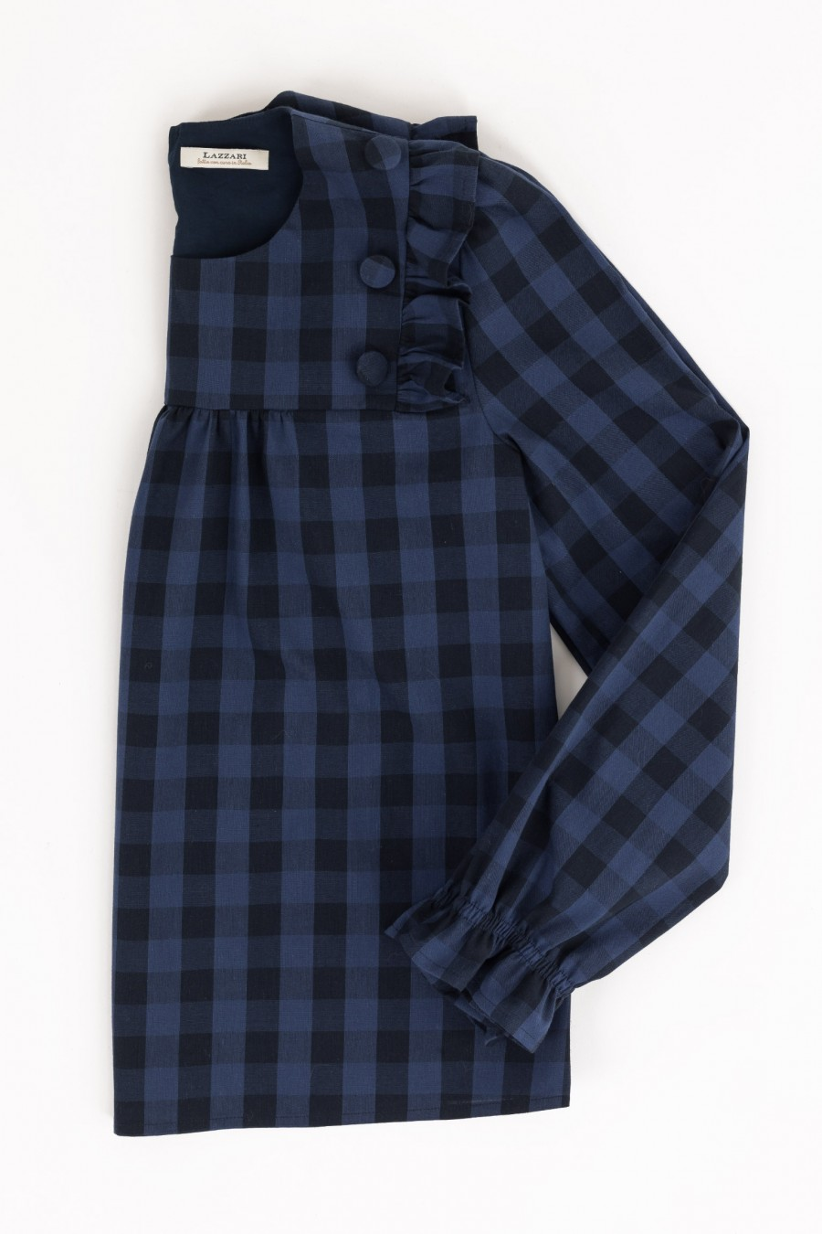 Blue and black tartan shirt