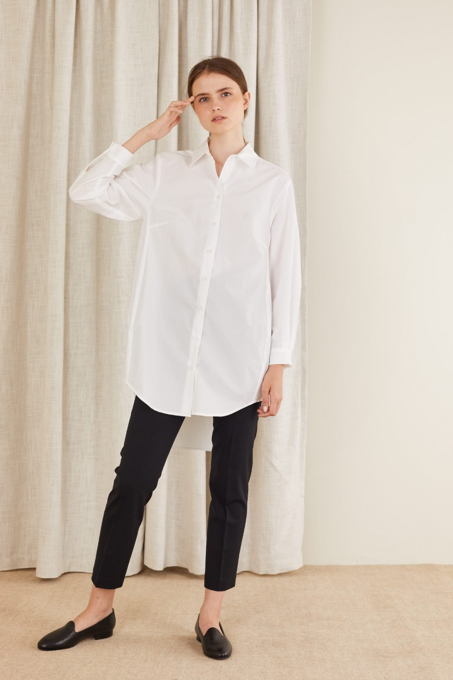 long white shirt made in italy