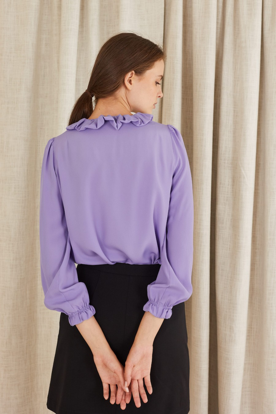 romantic lilac shirt