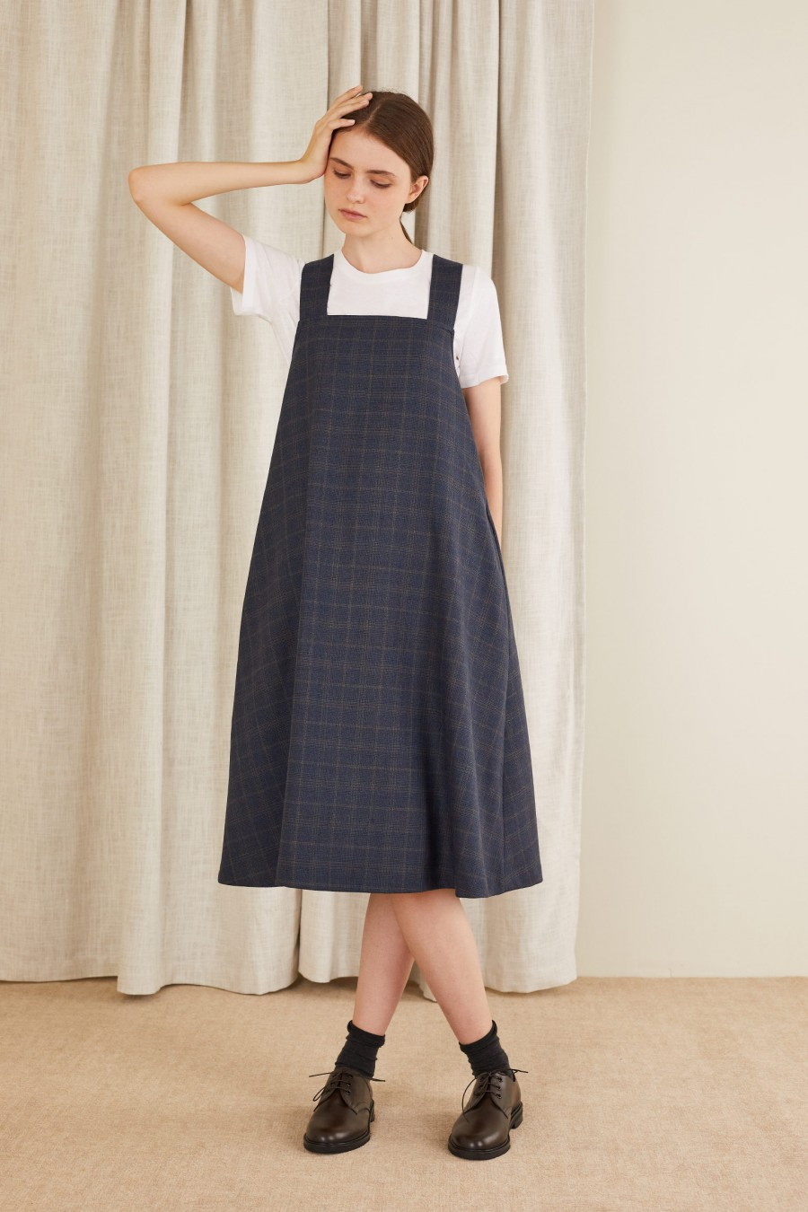 pinafore dress in autumn colors