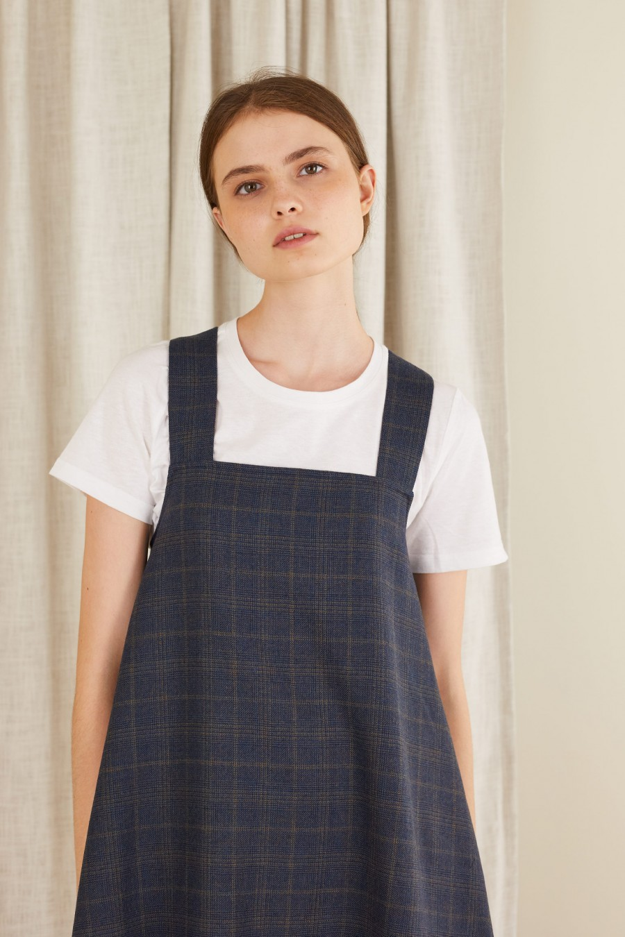back to school dress with checks