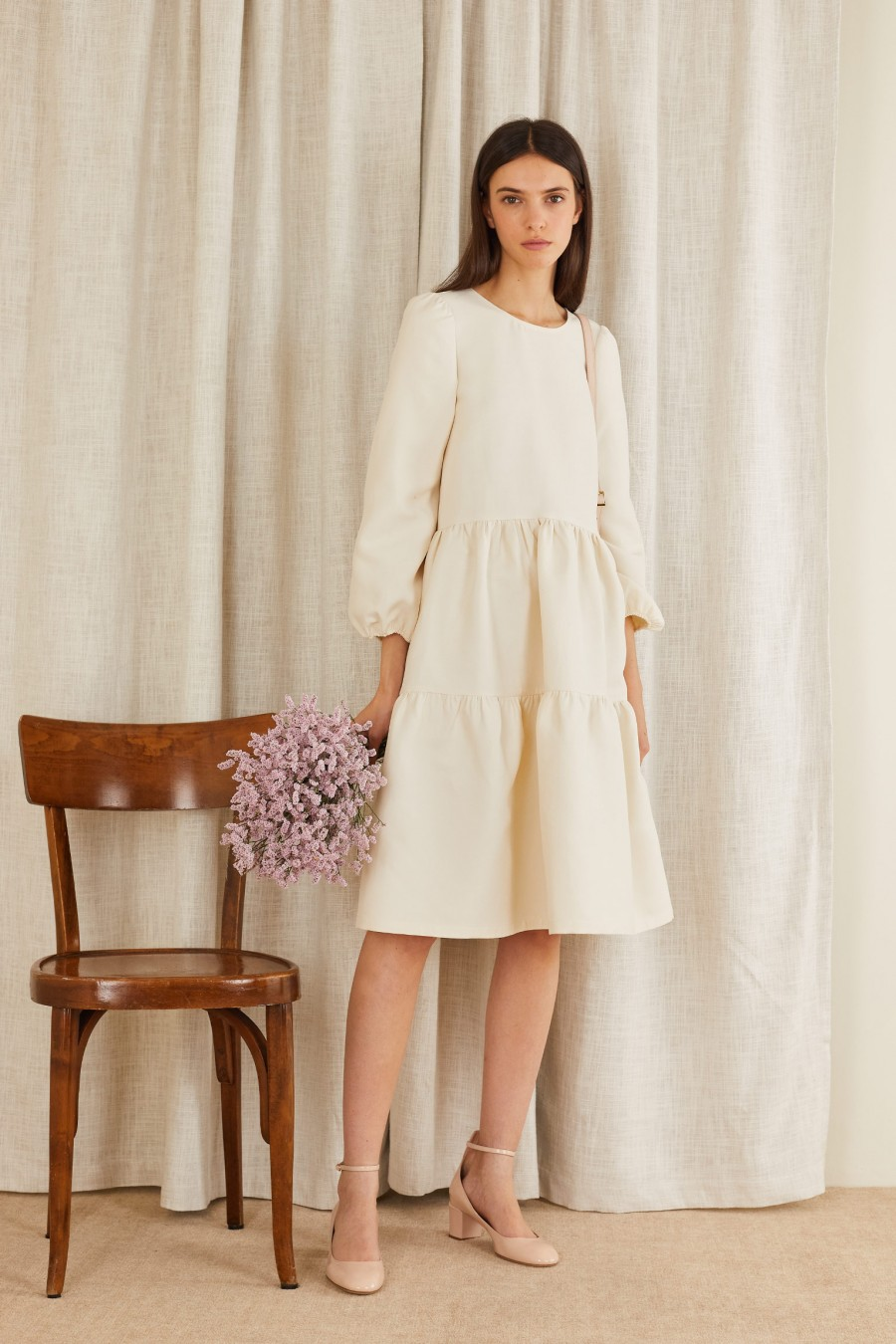 white tiered dress for an elegant party