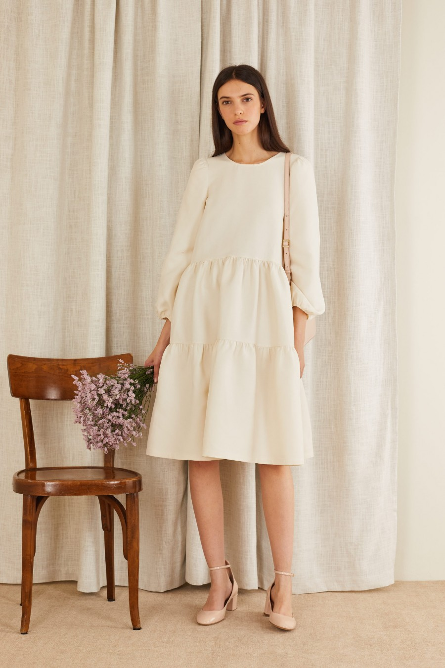 romantic and sophisticated tiered dress