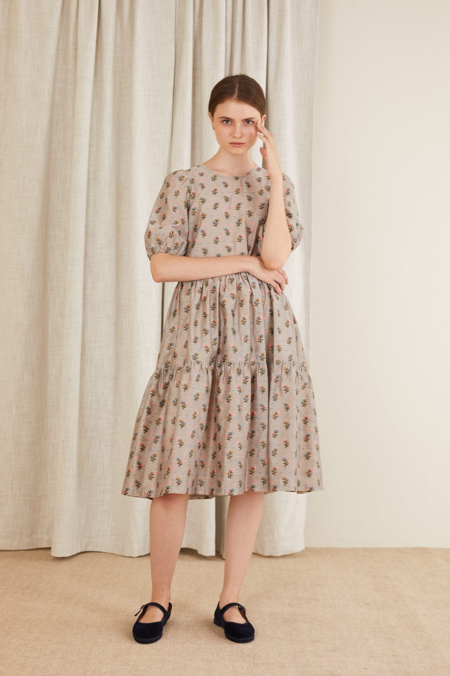 stylish dress with little flowers