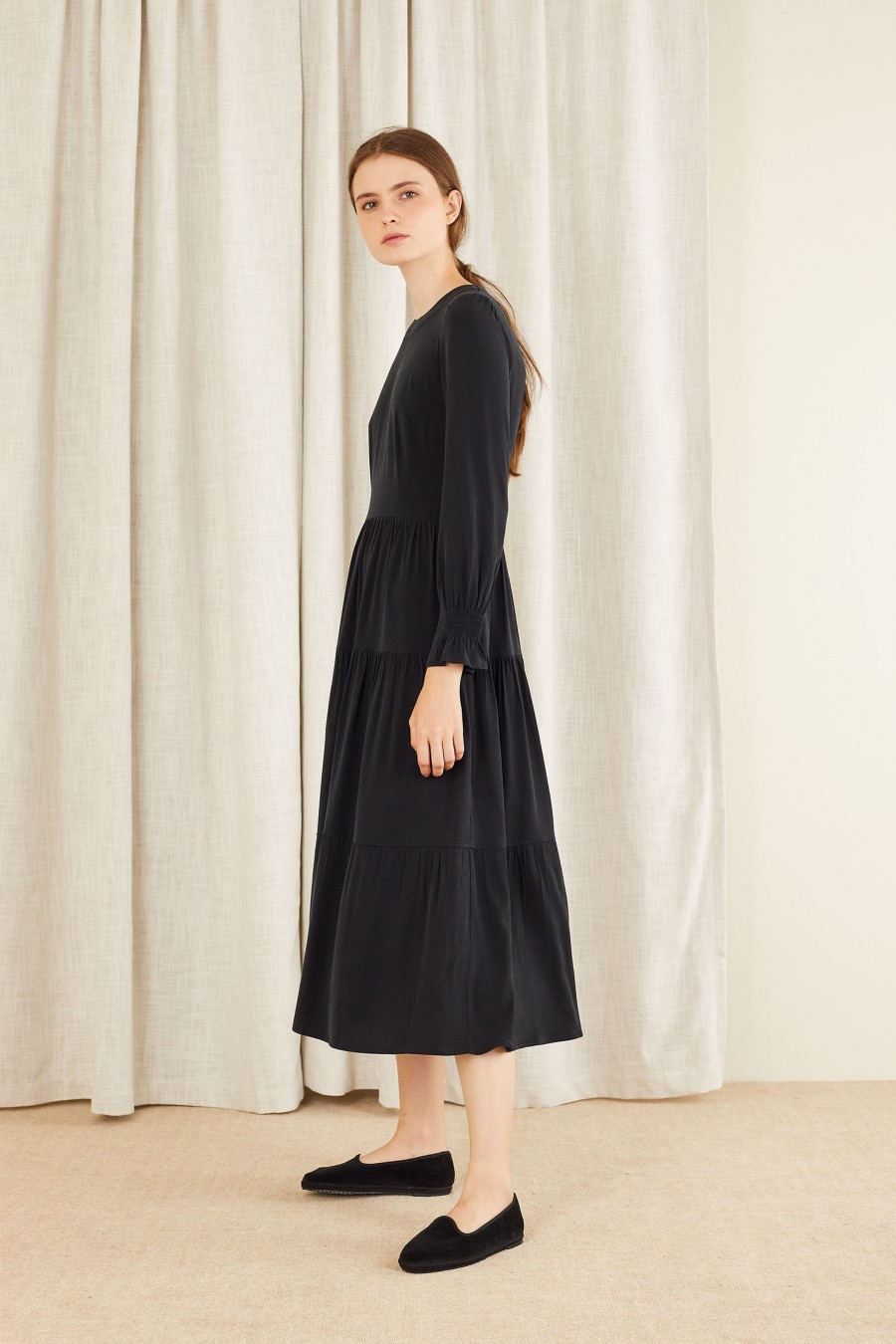basic tiered evening gown