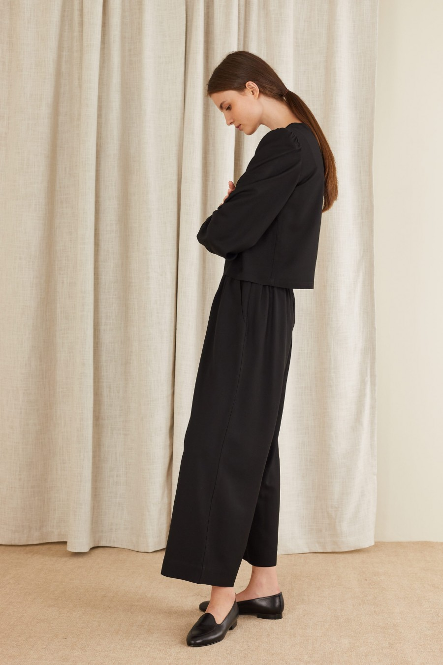 elegant look with top and palazzo pants