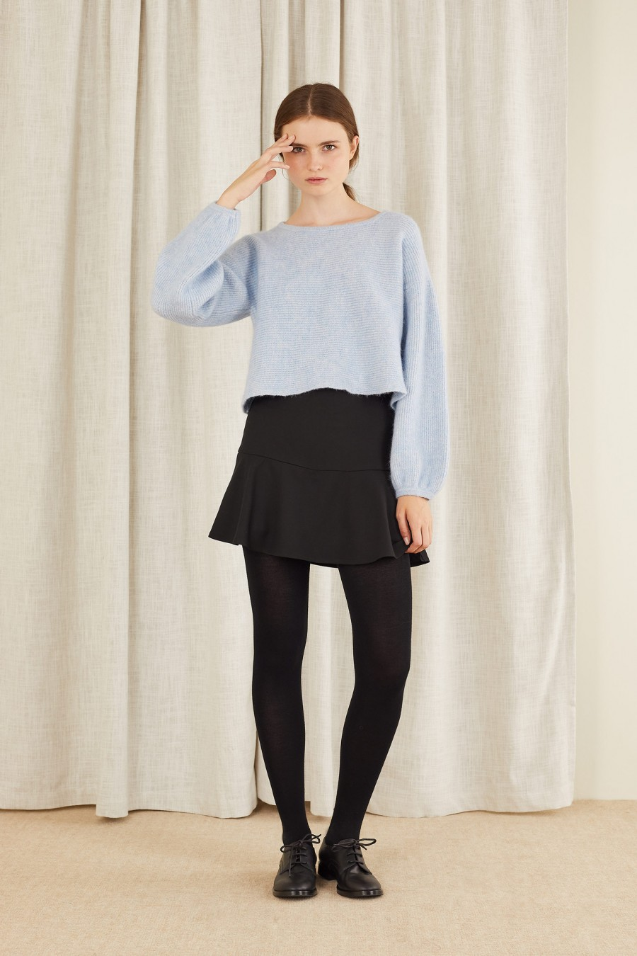 vintage look with miniskirt and jumper