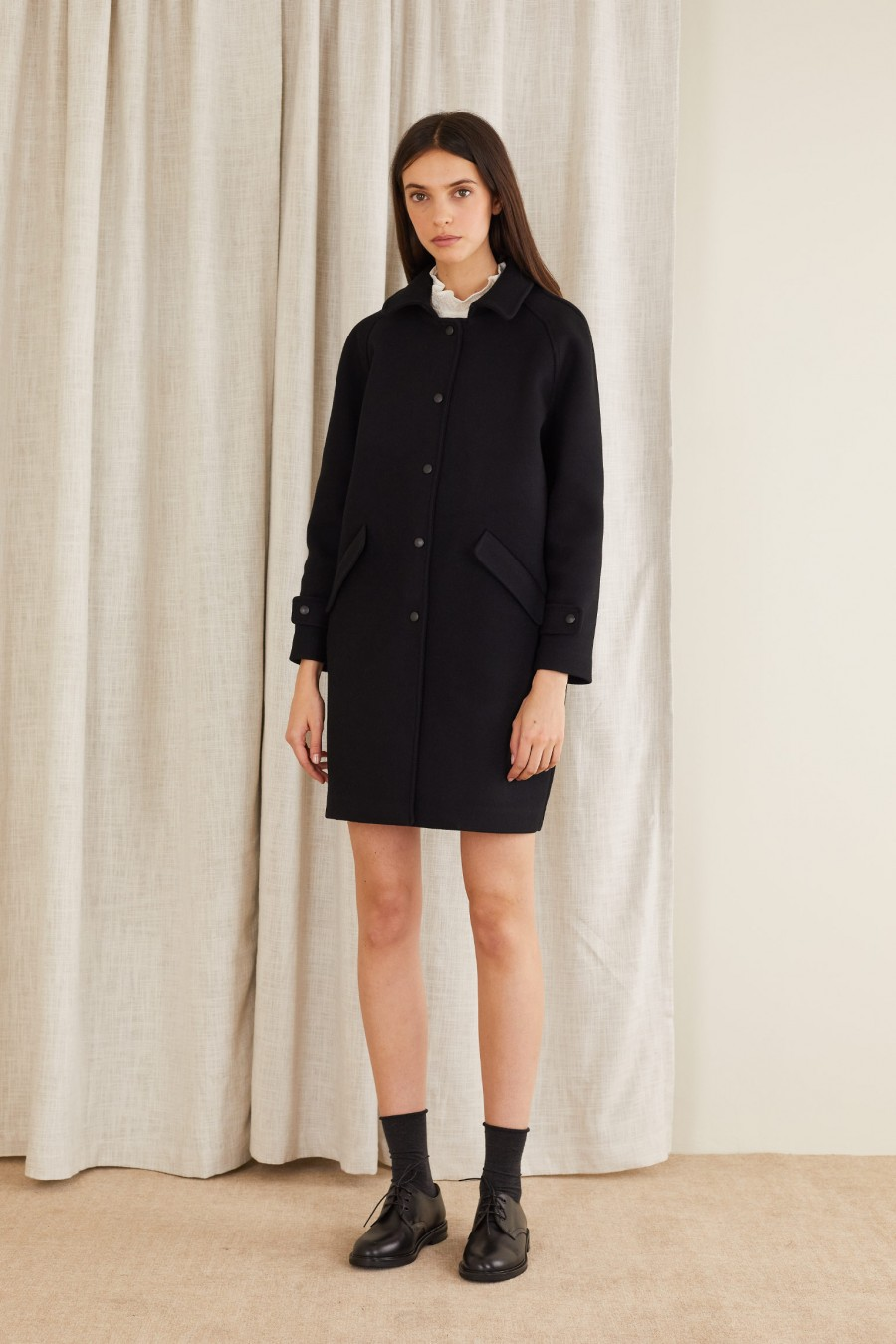 wool coat made in italy