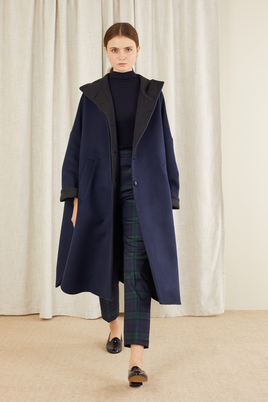 long and soft overcoat in cashmere