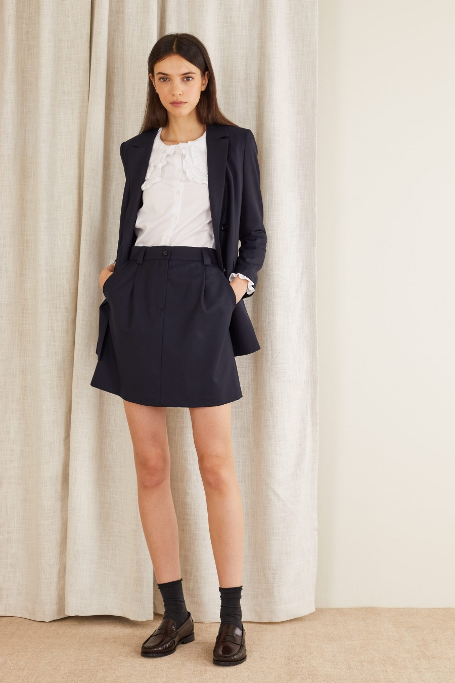 classic style with skirt and blazer