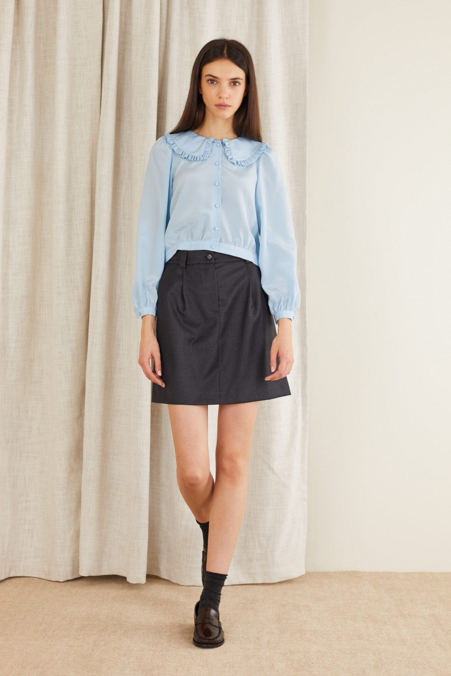 classic style with skirt and shirt