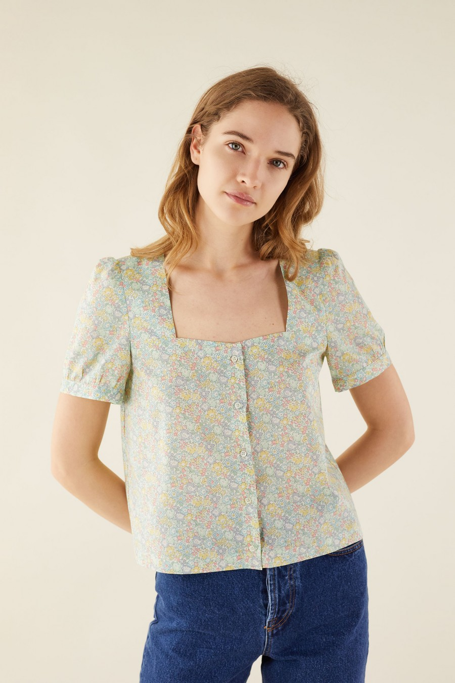 liberty fabric top