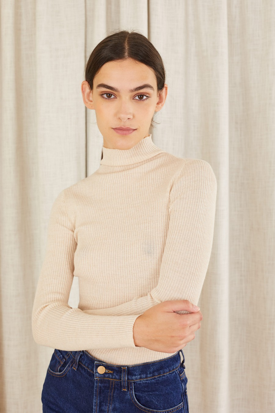 casual turtleneck for autumn