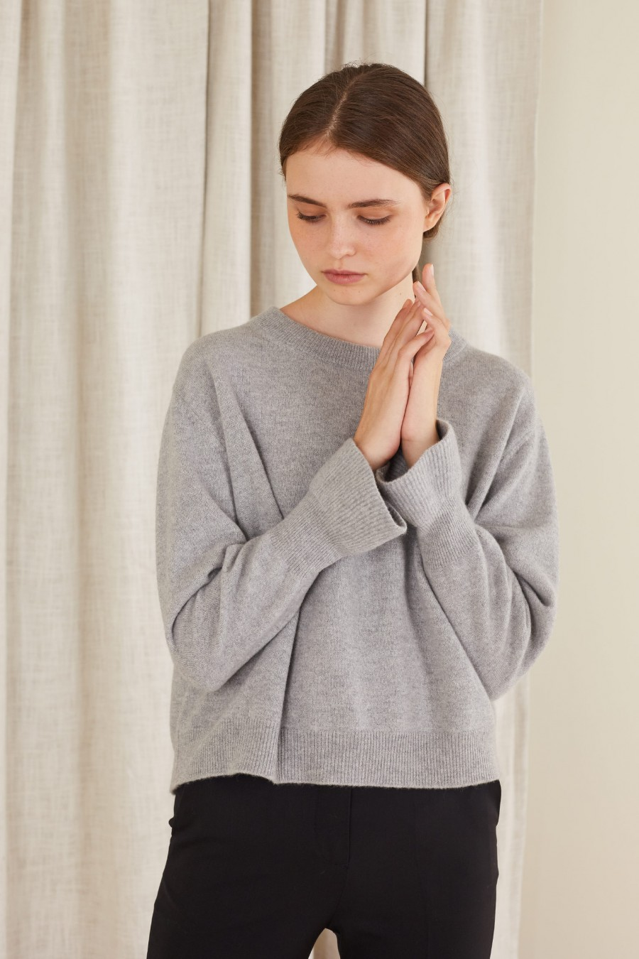 wool sweater with lurex