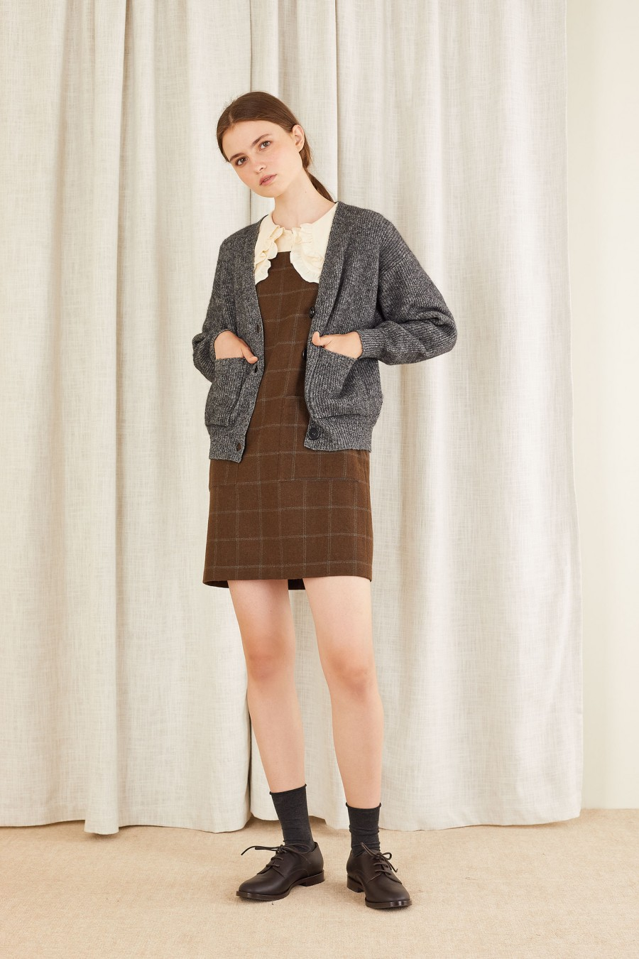 bon ton uniform with cardigan
