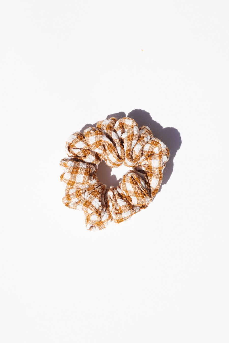 checked handmade scrunchie