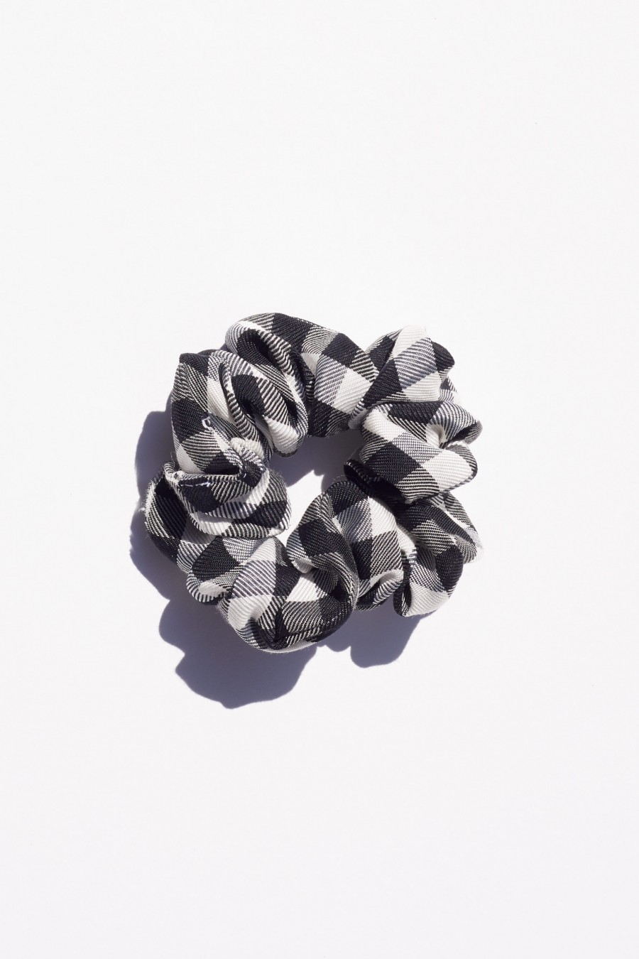 scrunchie with black checks