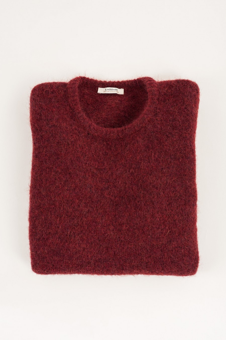 Girocollo in mohair bordeaux