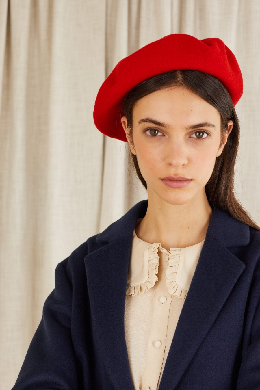 red french style beret