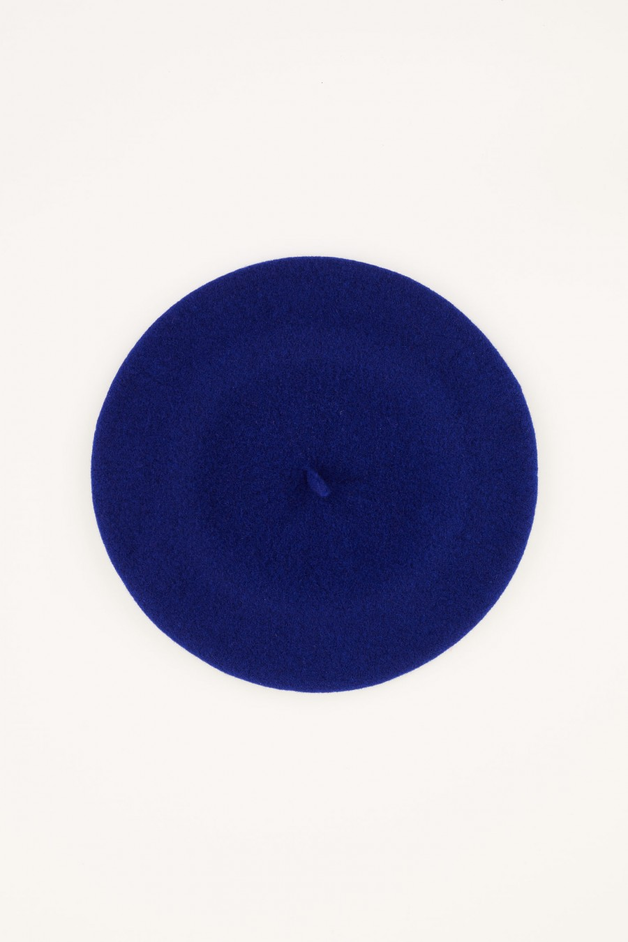 blue wool beret made in italy