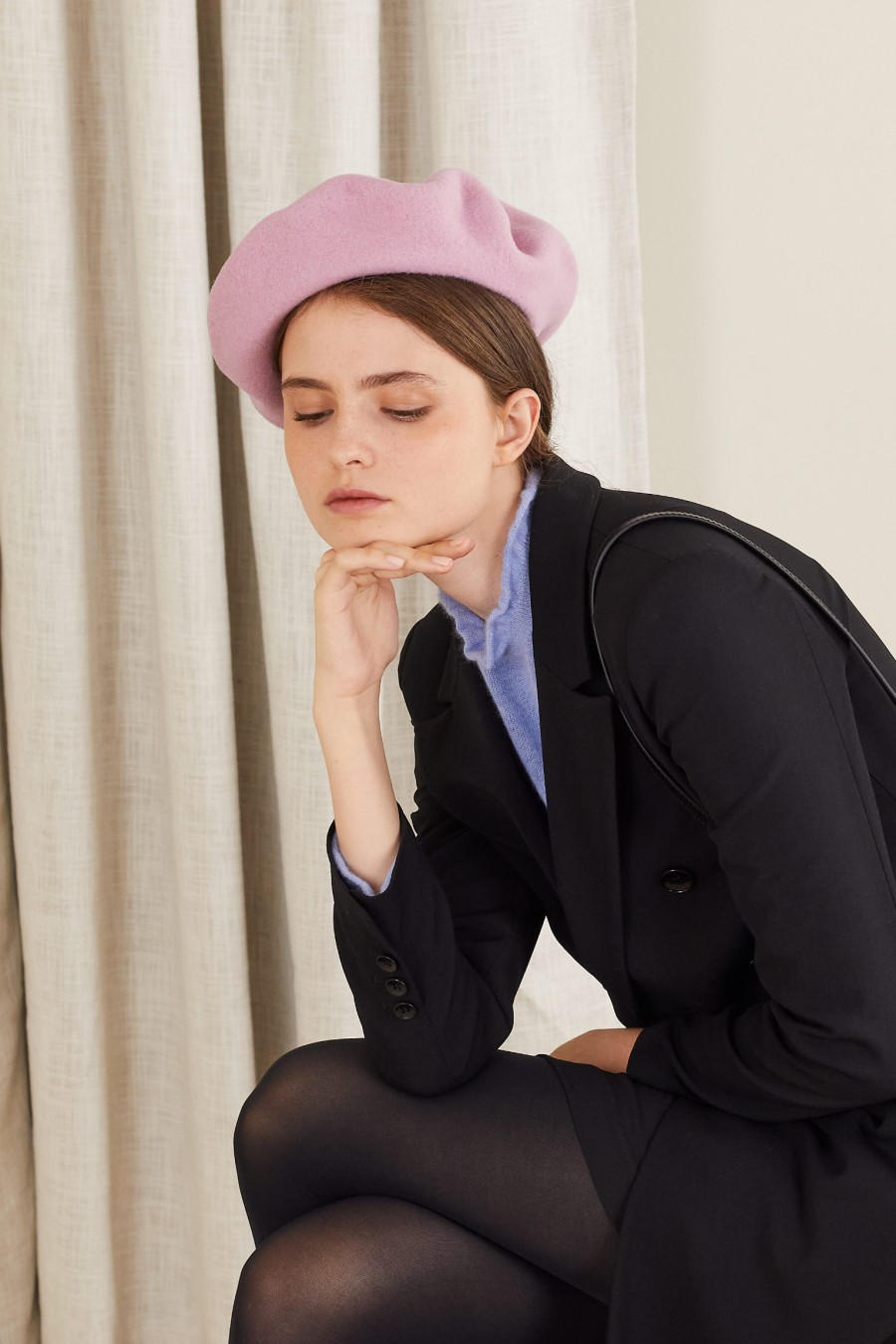 paris style beret made in italy