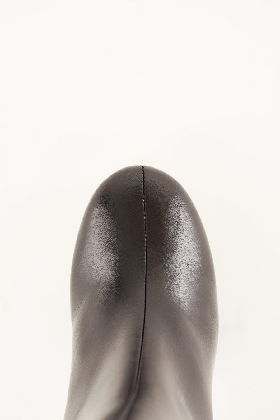 black leather ankle boots made in italy