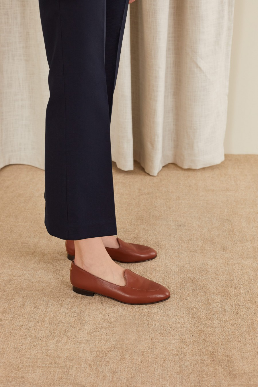 elegant loafers with low heels