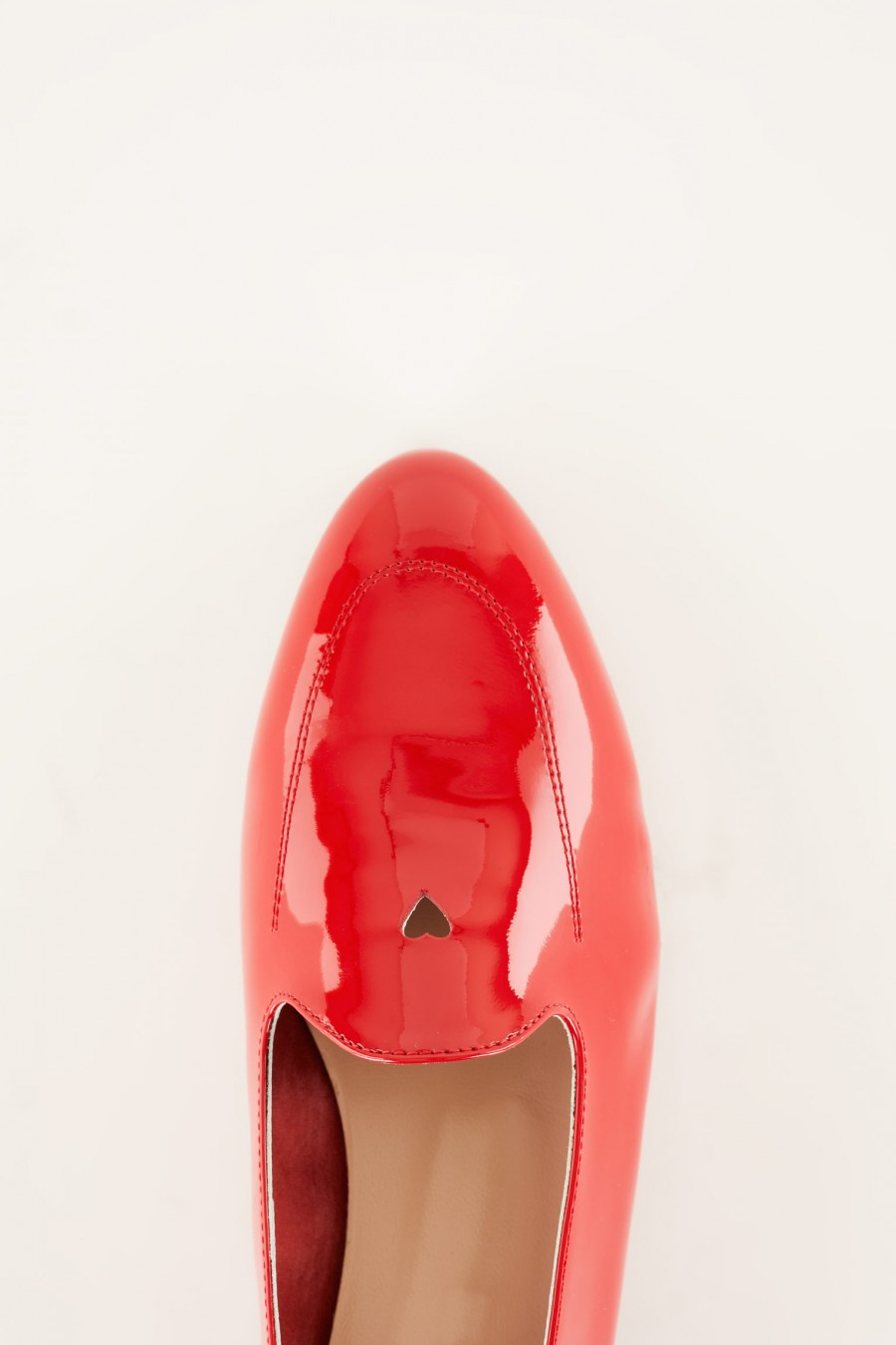 romantic loafers with tiny heart