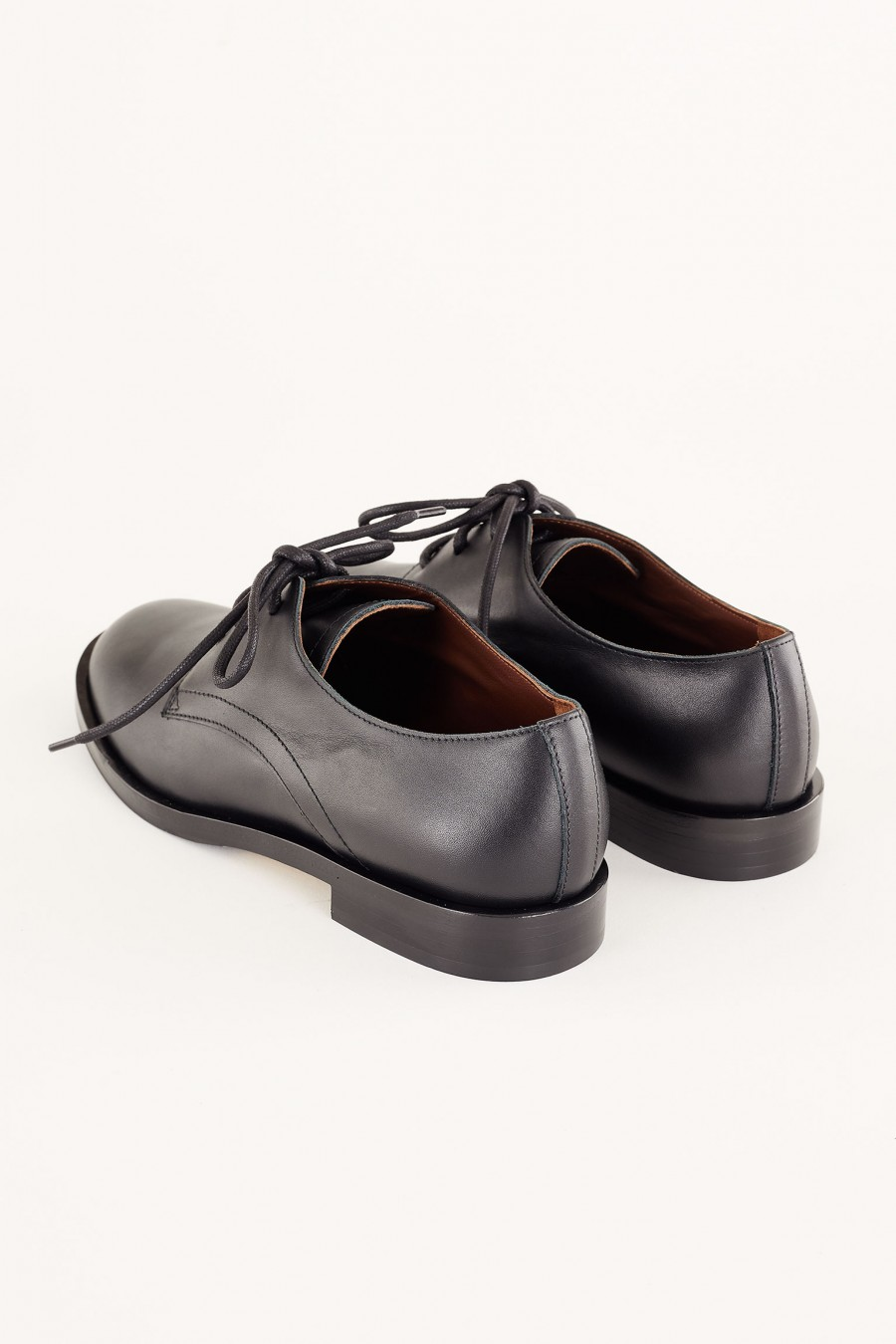 made in italy black nappa leather derby shoes