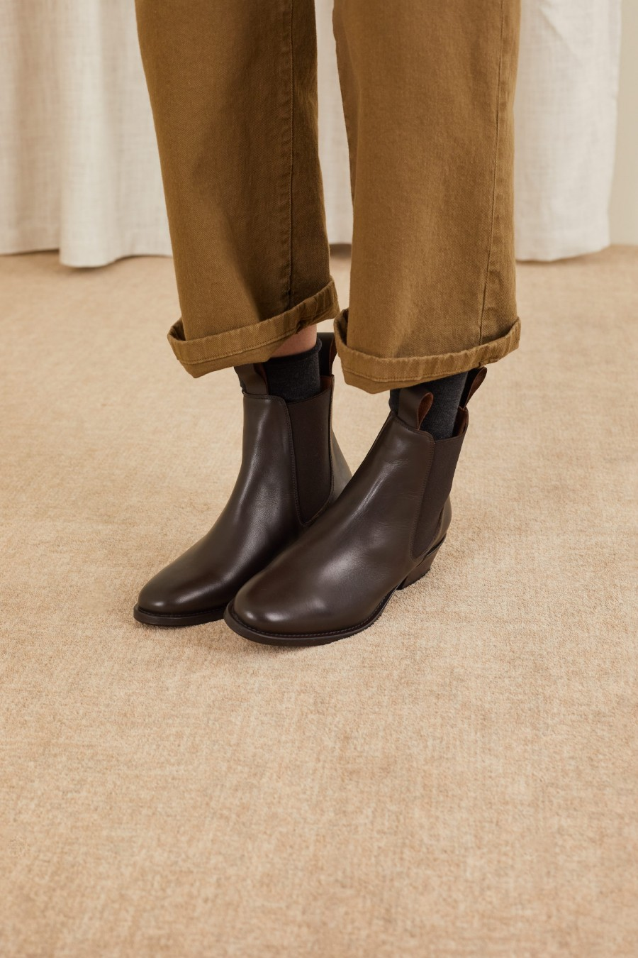 brown ankle boots made in italy