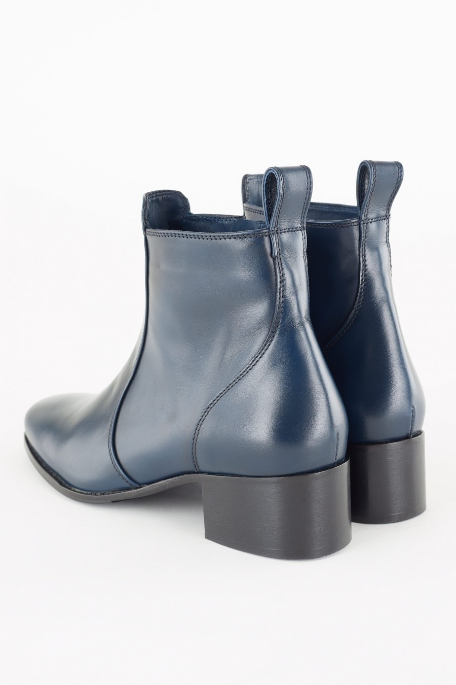 comfortable blue ankle boots