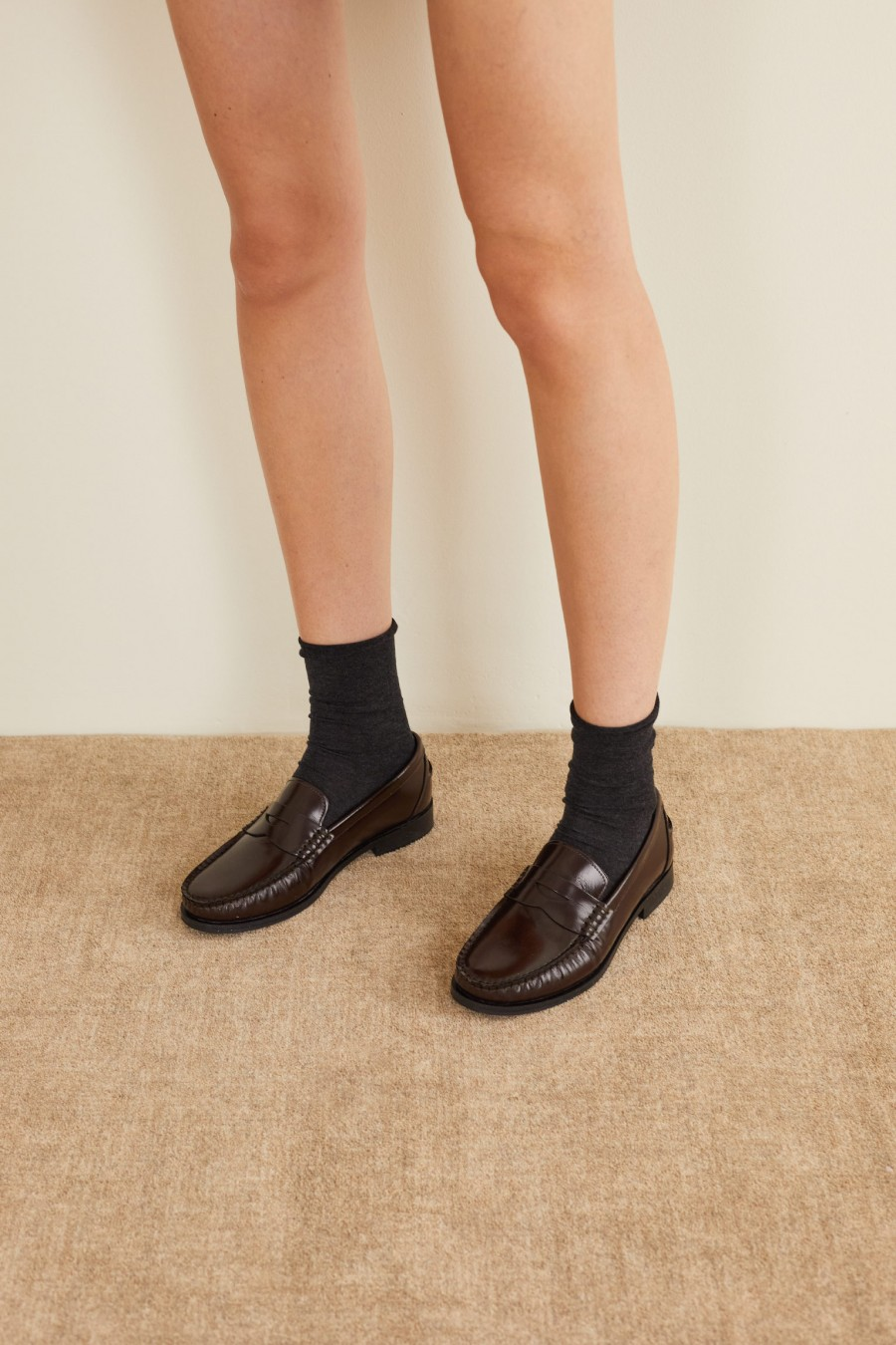 brown penny loafers made in italy