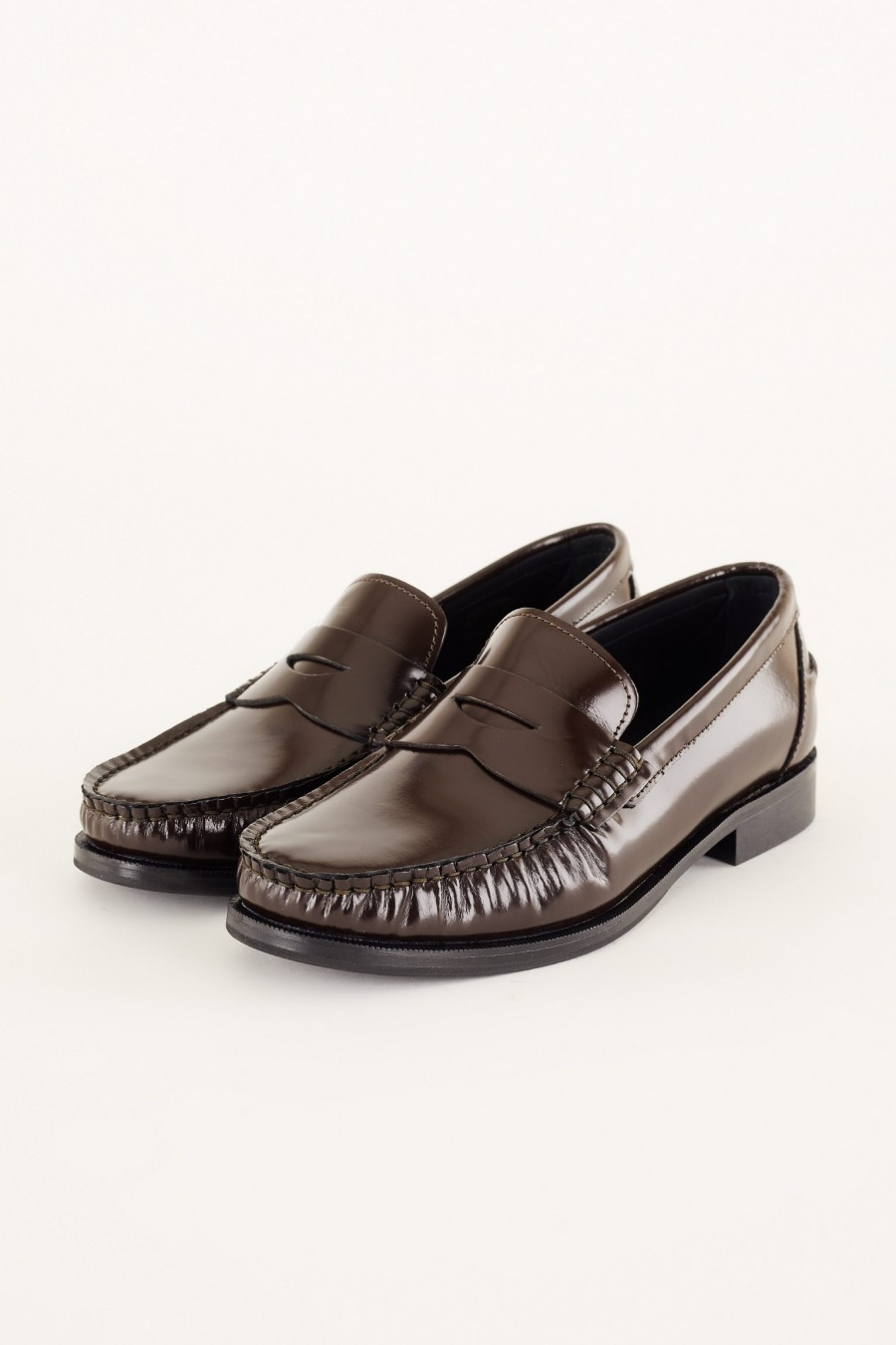 penny loafers marroni