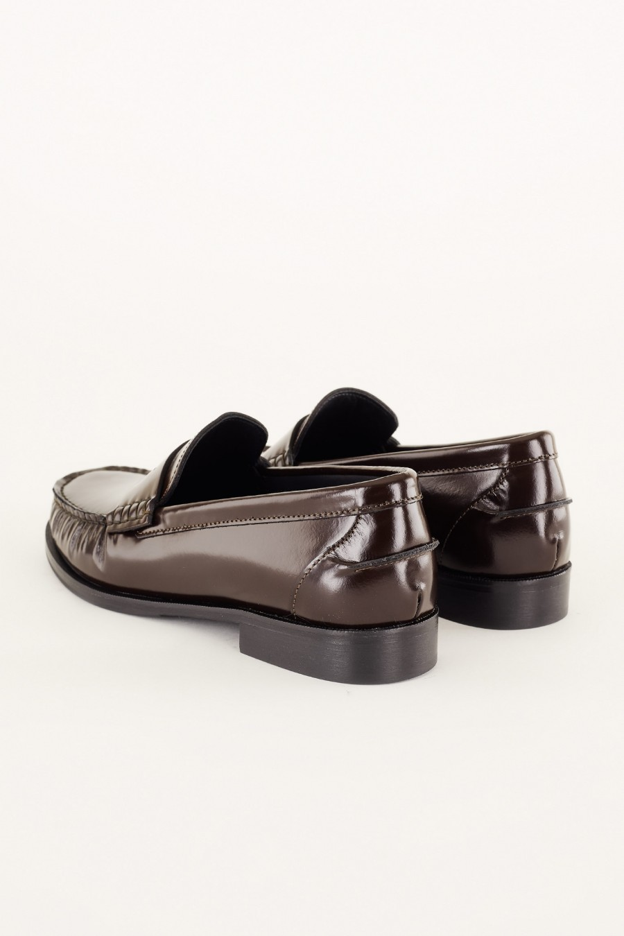 penny loafers in vera pelle