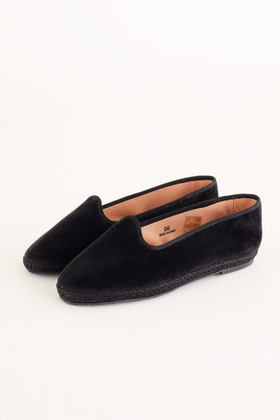black velvet friulane shoe slippers