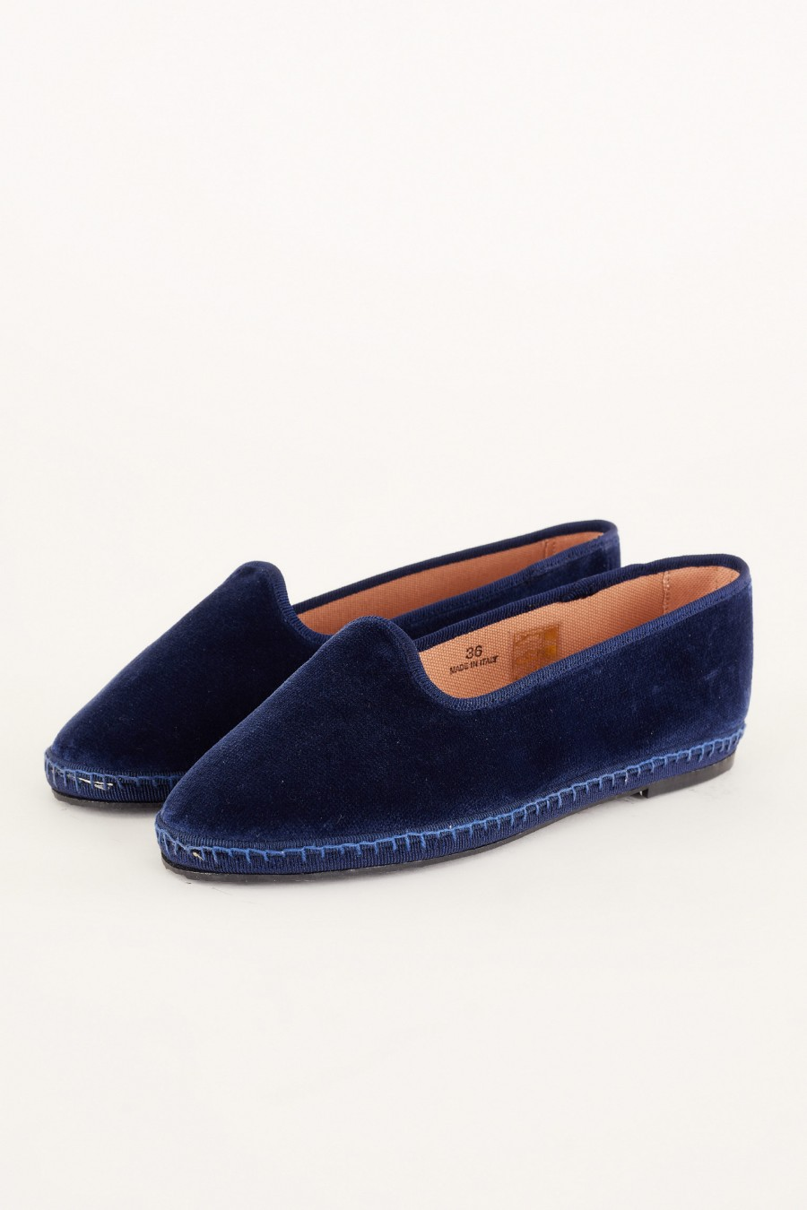 blue velvet friulane shoe slippers