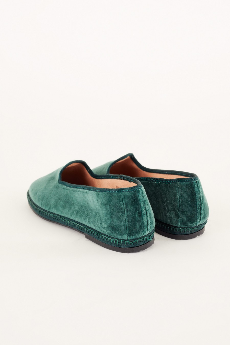 hand-sewn cotton velvet friulane shoe slippers
