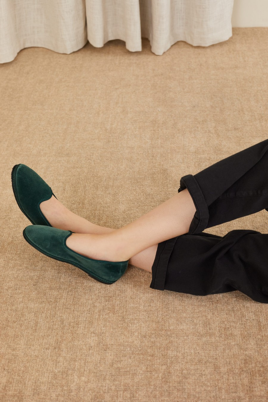 dark green friulane shoe slippers