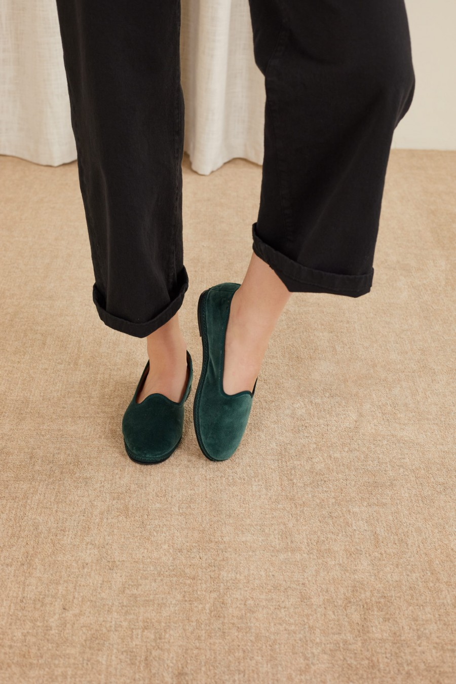 cotton velvet friulane shoe slippers