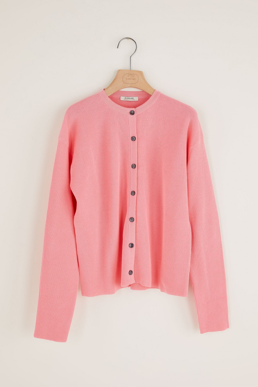 pink cardigan with buttons