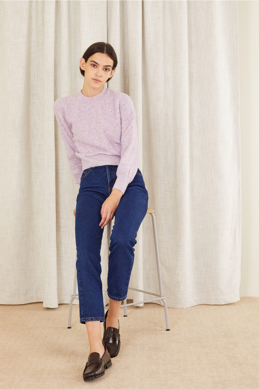 elasticated wool sweater