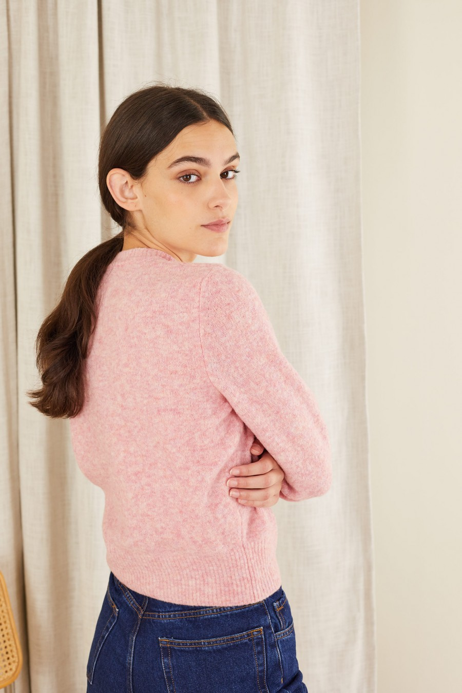 pink sweater for winter