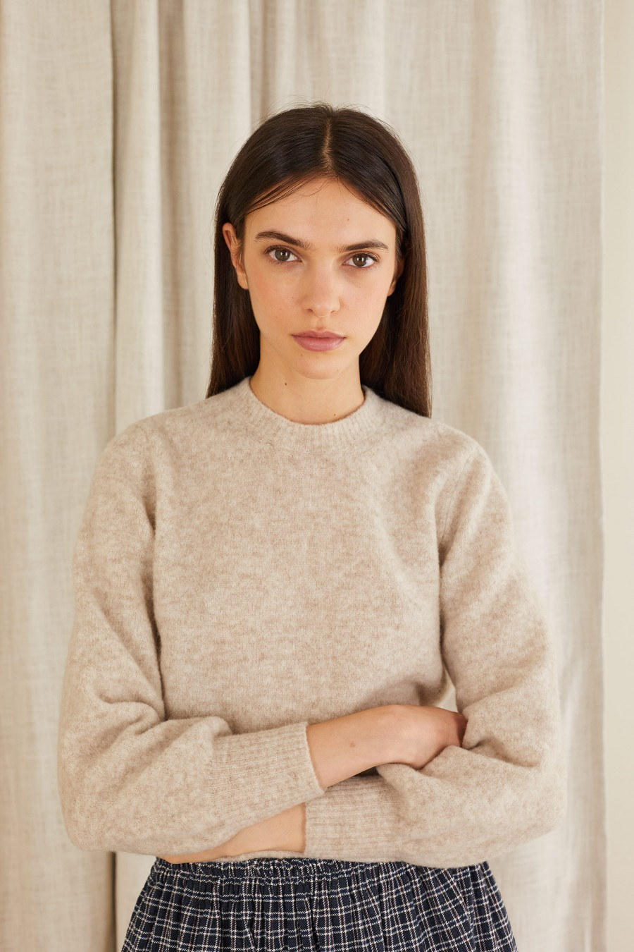 camel wool sweater